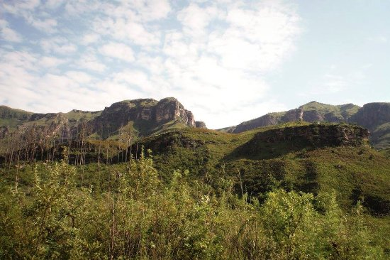 uKhahlamba-Drakensberg Park, Güney Afrika: View from the Safari Tents
