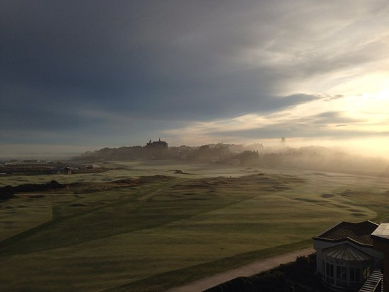 Old Course Hotel, Golf Resort & Spa: Misty morning in the home of golf