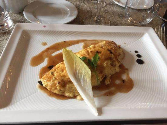Omelette aux truffes du Périgord et son coulis de diamant noir