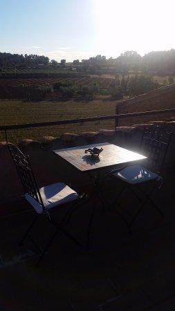 Sant Feliu de Boada, Spain: Fantástica terraza donde despedir un atardecer con un té o una copa.