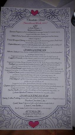 The Charlotte Hotel & Restaurant: A beautiful Valentine's dinner.