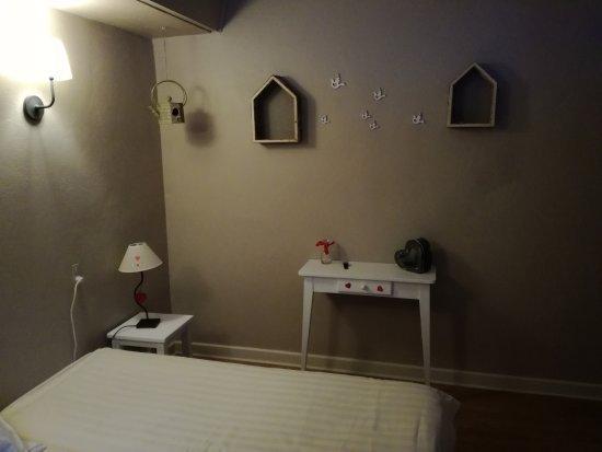 La Feclaz, فرنسا: Superbe ...chambre douce et confortable