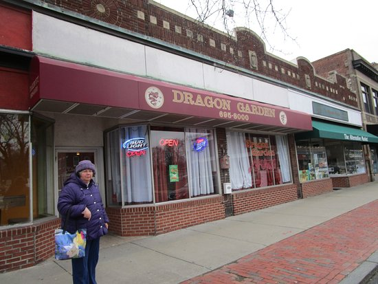 North Attleboro, MA: That is me standing in front of Dragon Garden.