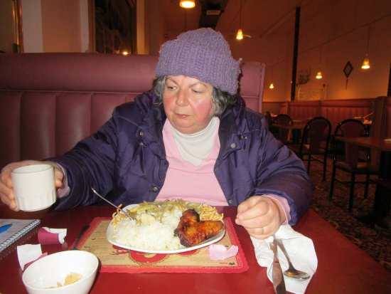 North Attleboro, MA: That is me eating my meal.