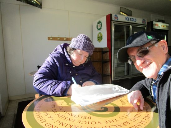 Rumford, RI: Louis and I at Crugnale Bakery.
