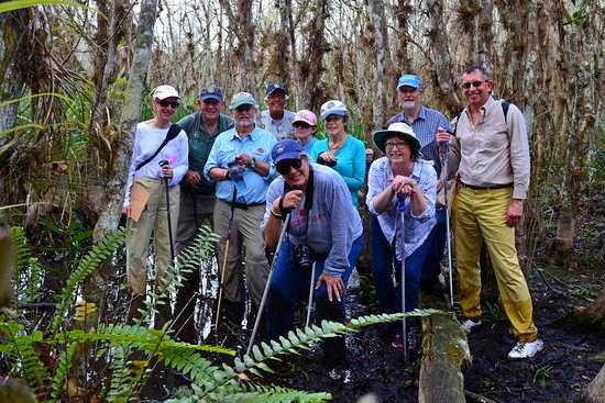 Copeland, FL: Our group deep in the Fakahatchee Swamp!