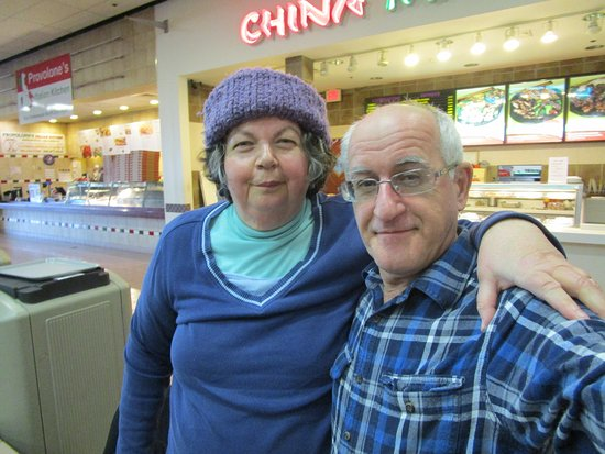 Louis and I at the Food Court in Swansea Mall.