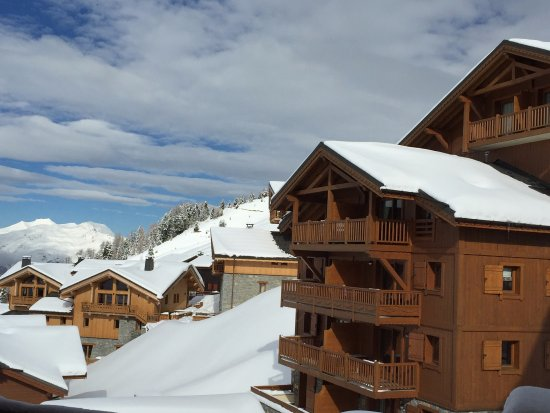 Macot-la-Plagne, France: Pleasant view from our lounge
