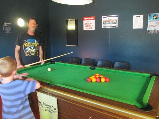 Kennedy Park Resort Napier: Game of pool in kids games room