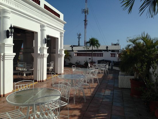 Antiguo Hotel Europa: View from the rooftop terrace where breakfast is served.