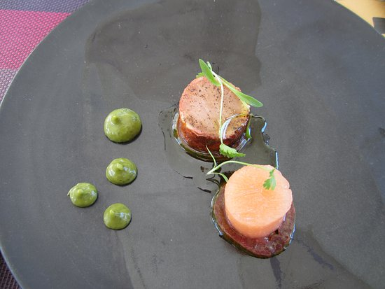 Franschhoek, Sudáfrica: Example of the food and wine pairing