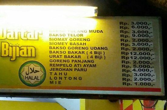 Menu Picture Of Bakso President Malang Tripadvisor
