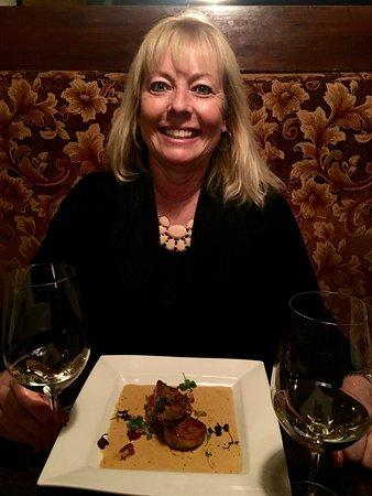 Shallow Shaft Restaurant: Enjoying the Pan Seared Diver Scallop, Pancetta Braised Artichoke, Chipotle Creme