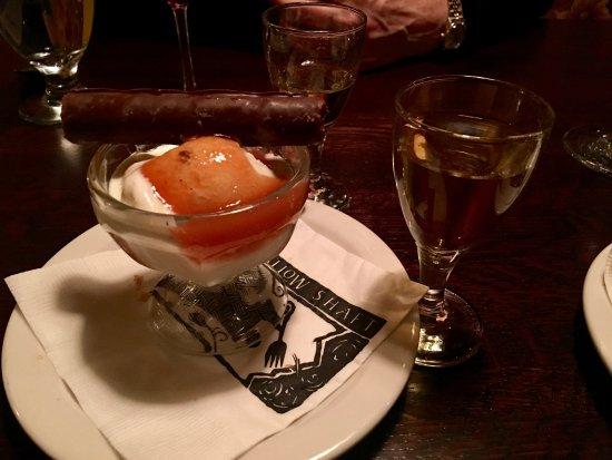 Alta, UT: Foie Gras Ice Cream, Apricot Puree, Chocolate Tuille