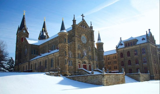 Saint Meinrad Archabbey: The Church in winter