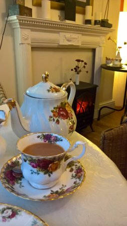 Usk, UK: Nice pot of tea