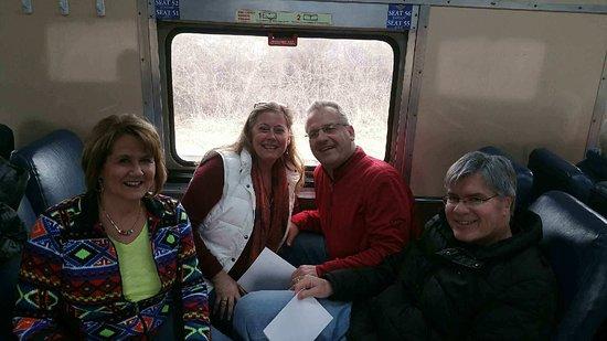 Having fun in the train