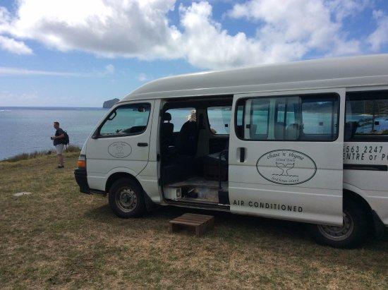 Chase 'n' Thyme Tours: The minivan