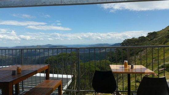 Mount Hotham, Australia: View from the bistro over mountains