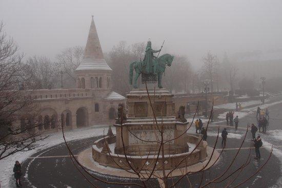 Statue of St Stephen: 冬天的雕像