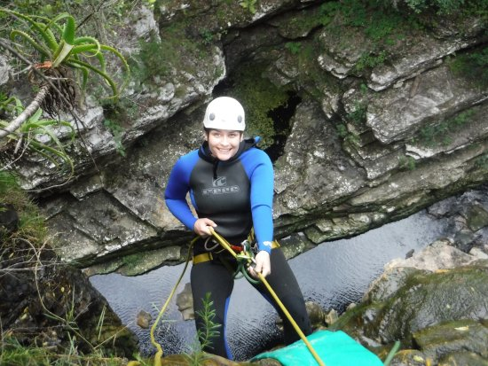 Wilderness, South Africa: Abseil yourself or be lowered by your guide ;)