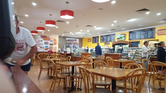 BEECHWORTH BAKERY BENDIGO view of serving area and display cabinets