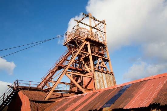 Blaenavon, UK: View of the shaft