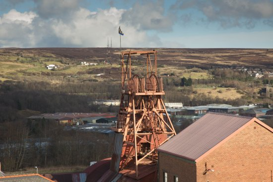 Blaenavon, UK: The shaft from the bath house