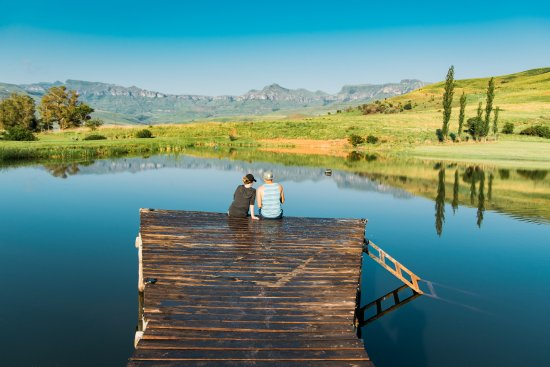 uKhahlamba-Drakensberg Park, Sør-Afrika: Fishing dam with a view