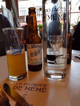 Le Potager de Mémé Restaurant : Bière bretonne locale