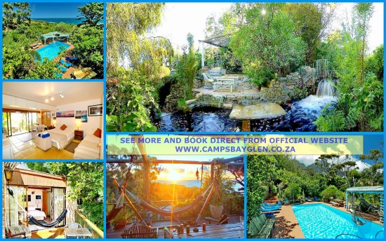 Camps Bay Glen: collage of campsbayglen garden pool and some rooms
