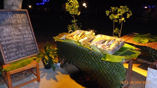 Hotel Mermaid & Club: Saturday night fish barbecue was delicious