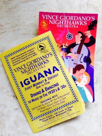 Iguana New York : Vince Giodarno's Night Hawks Orchestra at Iguana NYC