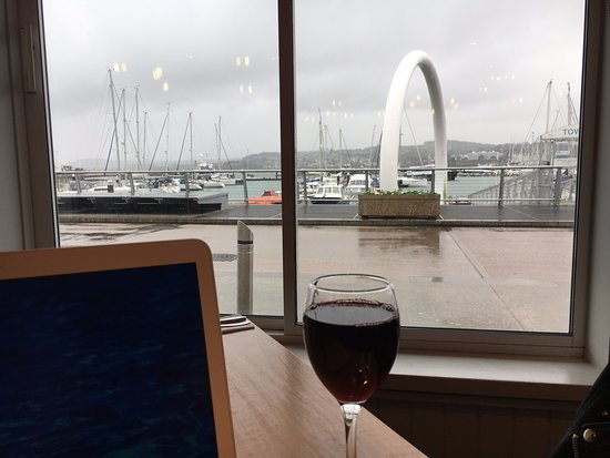 Harvester Beacon Quay: View from the restaurant
