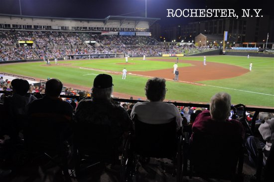 Frontier Field is perfect on a Rochester summer night