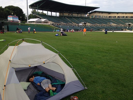 Frontier Field: The Rochester Red Wings organization offer local scouts a chance to camp out overnight on the fi