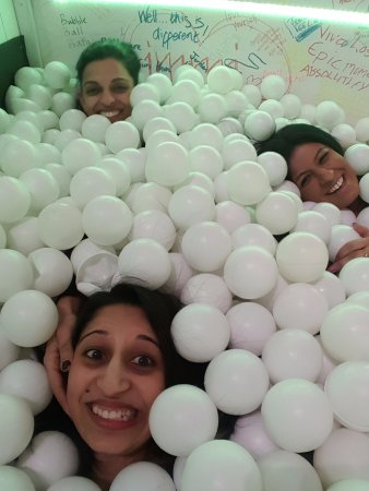Museum of Happiness: In the ball pit