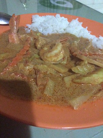 White Elephant Thai Resturant: Curry with shrimps and bamboo shoots