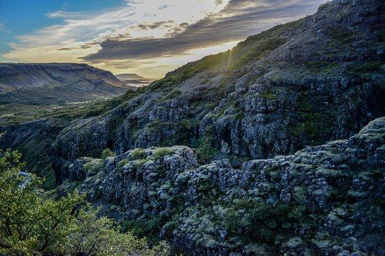 Akranes, IJsland: Cliffs of the Glymur