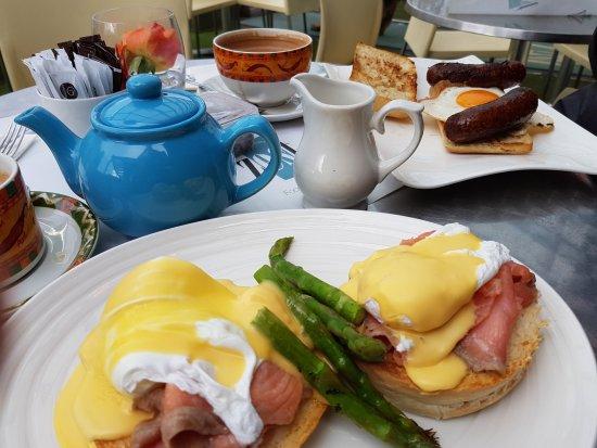 Zest Food & Wine Bar: Brunch - Eggs Royale and Breakfast Ciabatta