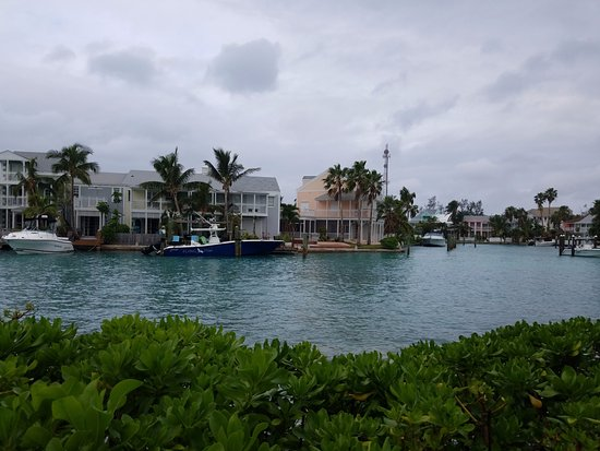 Sandyport Beach Resort: Gloomy day but still a beautiful resort, aside from the villa being treated for bed bugs.