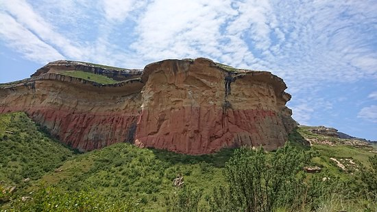 Free State, Νότια Αφρική: Outcrops of Sandstone rock
