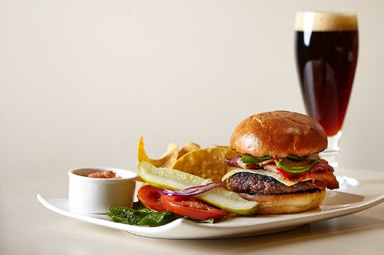 CityFlatsHotel: Burger paired with one of our rotating craft beers!