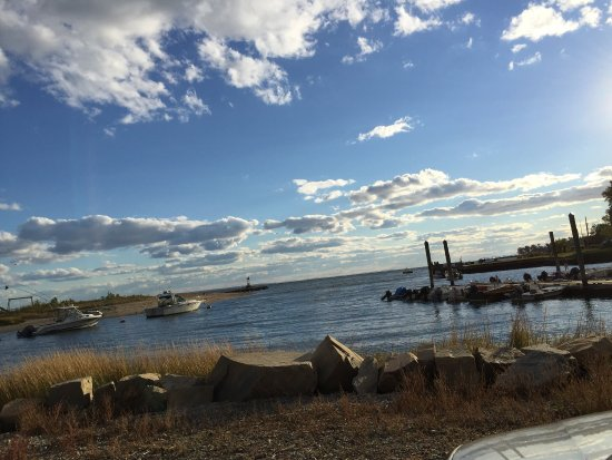 Southport area beach in Fairfield, CT
