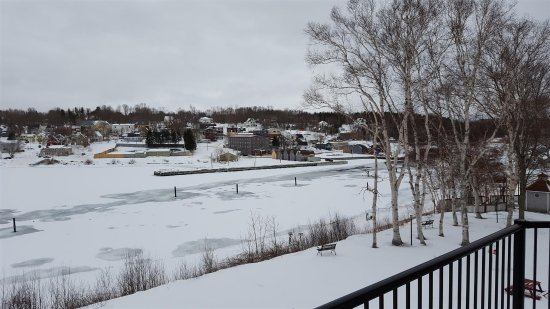 Montague, Canada: View of town from room