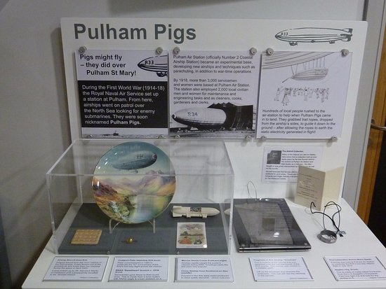"Diss, UK: Airship history - ""Pulham Pigs"" upstairs on the Heritage Gallery"