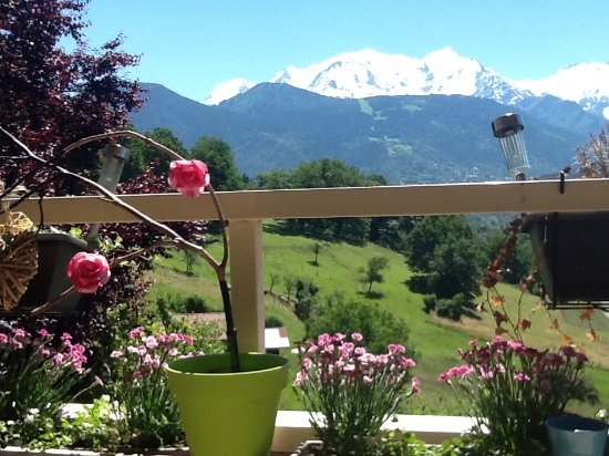 Passy, Γαλλία: Vue Mont Blanc de l'une des 4 terrasses