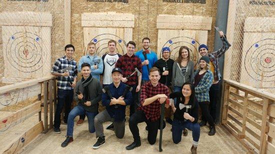 Surrey, Canada: Our axe crew