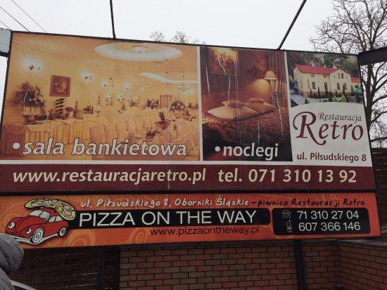 Oborniki Slaskie, Πολωνία: baner restauracji