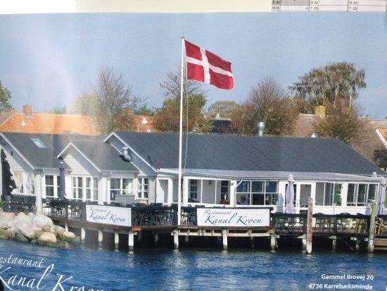 Karrebaeksminde, Dinamarca: Kanalkroen set fra søsiden